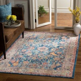 Safavieh Bristol Transitional Blue/ Grey Polyester Area Rug (6' x 9')
