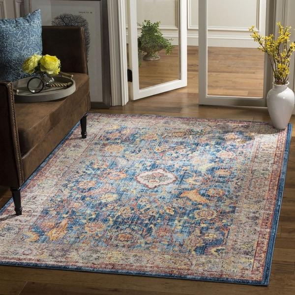 Safavieh Bristol Transitional Blue/ Grey Polyester Area Rug (6' x 9') -  BTL361C-6