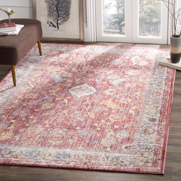 Safavieh Bristol Transitional Pink/ Grey Polyester Area Rug - 6\' x 9 ...