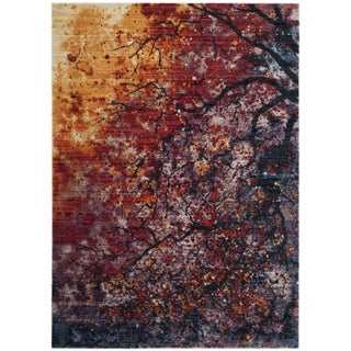 Safavieh Calista Transitional Purple/ Red Polyester Area Rug (5' x 7')