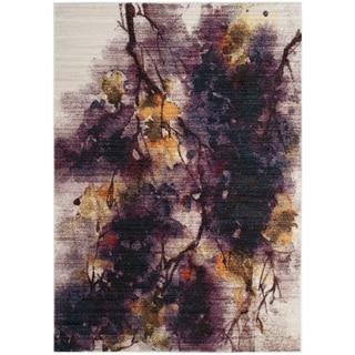 Safavieh Calista Transitional Ivory/ Purple Polyester Area Rug (5' x 7')