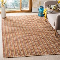 Safavieh Cape Cod Coastal Hand-Woven Beige/ Red Jute Area Rug - 5' x 8'