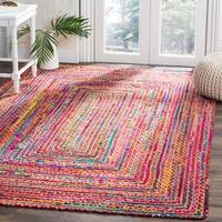 Safavieh Handmade Cape Cod Boho Braided Beige/ Multi Cotton Rug - 5' x 8'