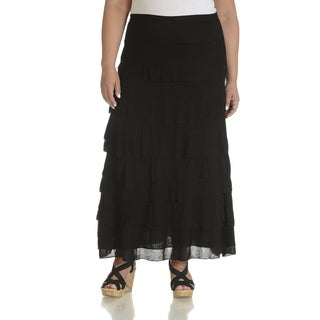 Chelsea and Theodore Plus-size Tiered Skirt