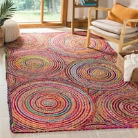 Safavieh Cape Cod Coastal Hand-Woven Red/ Multi Jute Area Rug - 6' x 9'