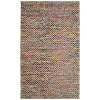 Safavieh Cape Cod Coastal Hand-Woven Natural/ Multi Jute Area Rug - 6' x 9'