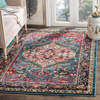 Safavieh Cherokee Bohemian Oriental Blue/ Pink Area Rug - 6' x 9'