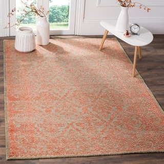 Safavieh Chester Transitional Hand-Knotted Beige/ Pink Wool Area Rug (6' x 9')