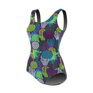 Dolfin Aquashape Moderate Scoop Back Print Madrid Multi Swimsuit