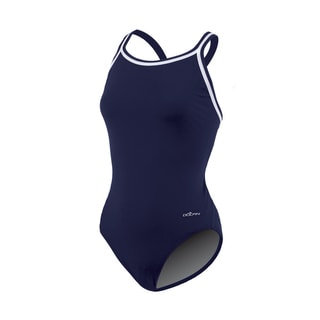 Solid Navy Female DBX Back Swimsuit
