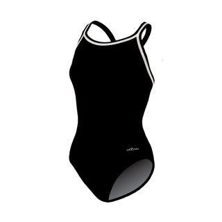 Solid Black Female DBX Back Swimsuit