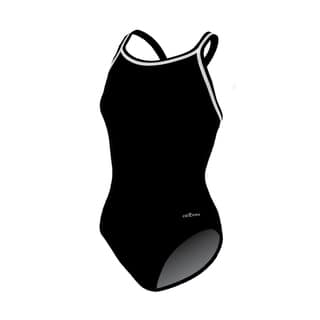 Solid Black Female DBX Back Swimsuit|https://ak1.ostkcdn.com/images/products/15126814/P21611415.jpg?impolicy=medium
