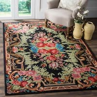 Safavieh Classic Vintage Black/ Multi Cotton Area Distressed Rug - 5' x 8'