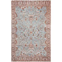 Safavieh Classic Vintage Blue/ Red Cotton Area Distressed Rug - 5' x 8'