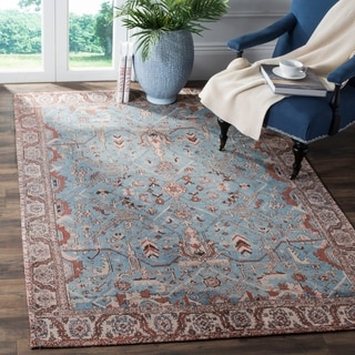 Safavieh Classic Vintage Blue/ Red Cotton Area Distressed Rug (6' x 9')