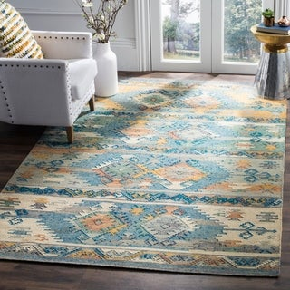 Safavieh Canyon Hand-Woven Blue/ Multi Wool Area Rug (5' x 8')