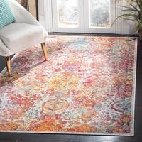 Safavieh Crystal Blue/ Orange Area Rug - 5' x 8'