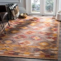 Safavieh Canyon Hand-Woven Brown/ Multi Wool Area Rug - 5' x 8'