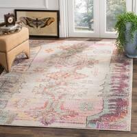Safavieh Crystal Grey/ Purple Area Rug (5' x 8')