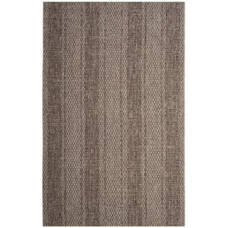 Safavieh Courtyard Nanci Moroccan Indoor/ Outdoor Rug (67 x 96 - Light Beige/Light Brown)