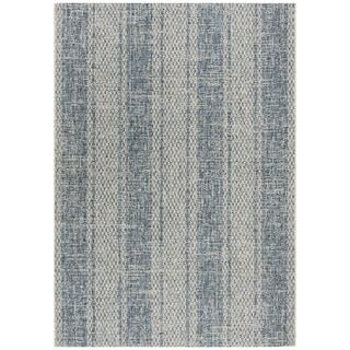 Safavieh Courtyard Nanci Moroccan Indoor/ Outdoor Rug (53 x 77 - Light Grey/Blue)