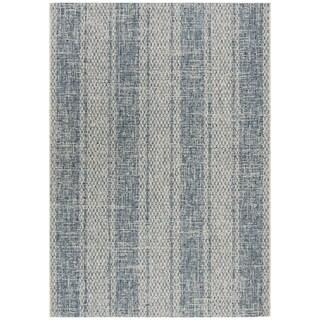 Safavieh Courtyard Nanci Moroccan Indoor/ Outdoor Rug (8 x 11 - Light Grey/Blue)