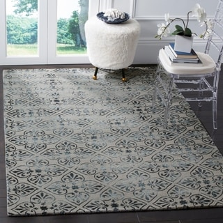 Safavieh Dip Dye Hand-Tufted Grey Wool Area Rug (5' x 8')