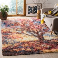 Safavieh Gypsy Red/ Blue Polyester Area Rug - 6' x 9'