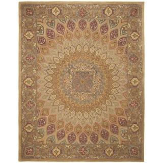 Safavieh Heritage Hand-Tufted Beige/ Grey Wool Area Rug (6' x 9')