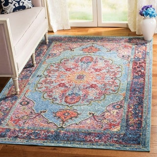 Safavieh Harmony Blue/ Purple Area Rug (5' x 8')