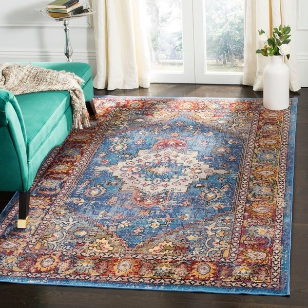 shop safavieh harmony blue red area rug 5 39 x 8 39 on sale free shipping today overstock. Black Bedroom Furniture Sets. Home Design Ideas