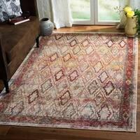 Safavieh Harmony Grey/ Red Area Rug (5' x 8')