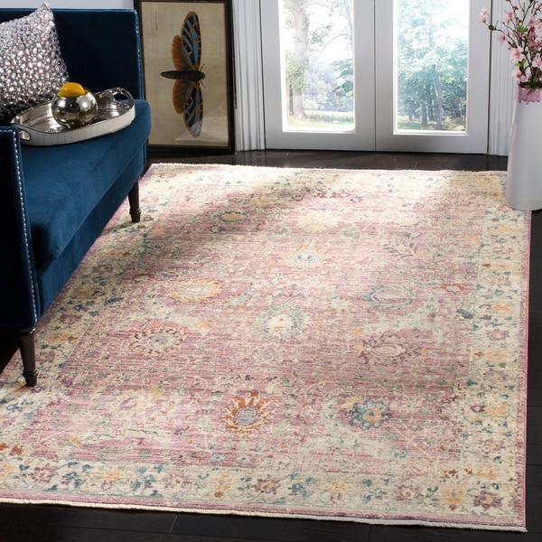 Safavieh Illusion Pink/ Cream Viscose Area Rug - 6' x 9'