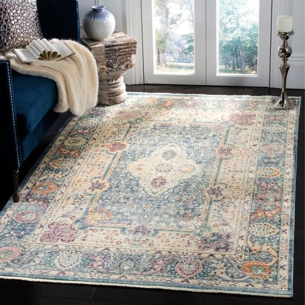 Shop Safavieh Illusion Green/ Teal Viscose Area Rug