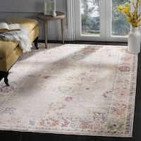 Safavieh Illusion Grey/ Cream Viscose Area Rug - 6' x 9'