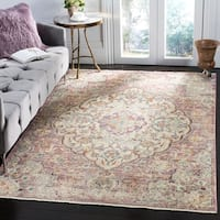 Safavieh Illusion Shabby Chic Medallion Cream/ Rose Pink Rug - 6' x 9'
