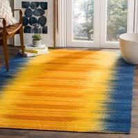 Safavieh Kilim Hand-Woven Blue/ Yellow Wool Area Rug - 5' x 8'