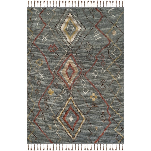 Shop Safavieh Kenya Hand Knotted Grey Multi Wool Area Rug