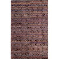 Safavieh Marrakech Hand-Knotted Purple/ Multi Wool Area Rug - 6' x 9'