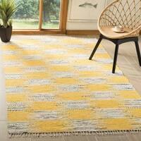 Safavieh Montauk Hand-Woven Yellow/ Multi Cotton Area Rug - 5' x 8'