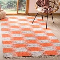 Safavieh Montauk Hand-Woven Orange/ Multi Cotton Area Rug (5' x 8')