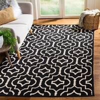 Safavieh Montauk Hand-Woven Black/ Ivory Cotton Area Rug - 5' x 8'