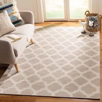 Safavieh Montauk Hand-Woven Grey/ Ivory Cotton Area Rug - 5' x 8'
