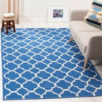 Safavieh Montauk Hand-Woven Blue/ Ivory Cotton Area Rug - 5' x 8'