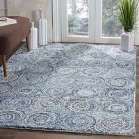 Safavieh Nantucket Hand-Tufted Blue Cotton Area Rug - 5' x 8'