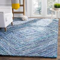 Safavieh Nantucket Hand-Tufted Blue Cotton Area Rug (5' x 8')