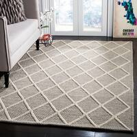 Safavieh Natura Hand-Tufted Grey Wool Area Rug - 6' x 9'