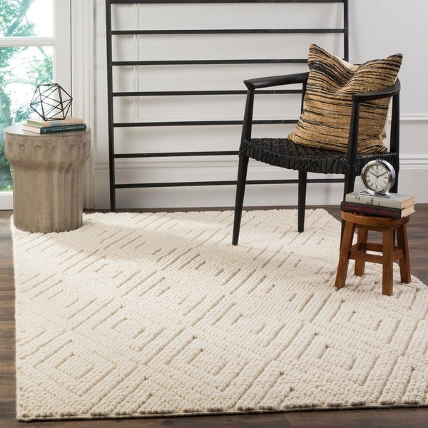 Shop Safavieh Natura Hand Tufted Ivory Wool Area Rug 6 X 9 On