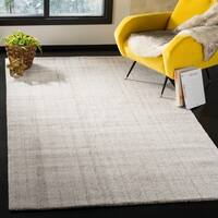 Safavieh Abstract Contemporary Hand-Tufted Grey Polyester Area Rug - 8' x 10'