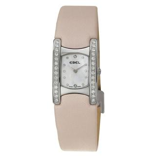 Ebel Beluga Manchette Pink Strap Diamond Watch